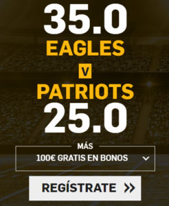 Supercuota Betfair Superbowl - Eagles vs Patriots